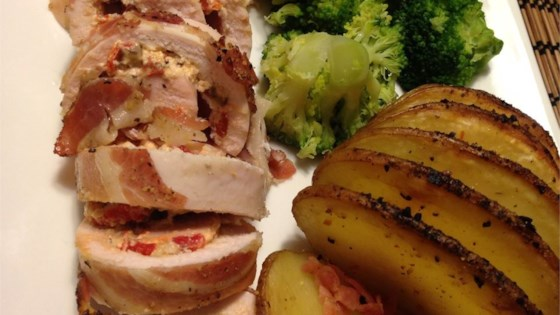 Pancetta Wrapped Stuffed Chicken Breasts