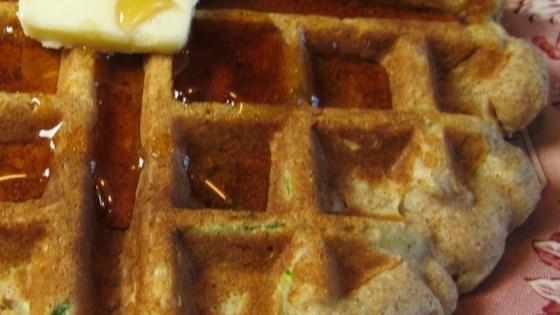 Zucchini Oatmeal Waffles