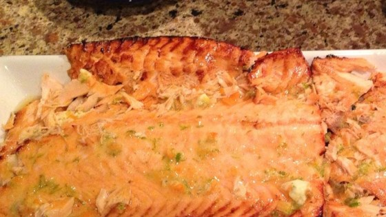 Grilled Salmon with Habanero-Lime Butter