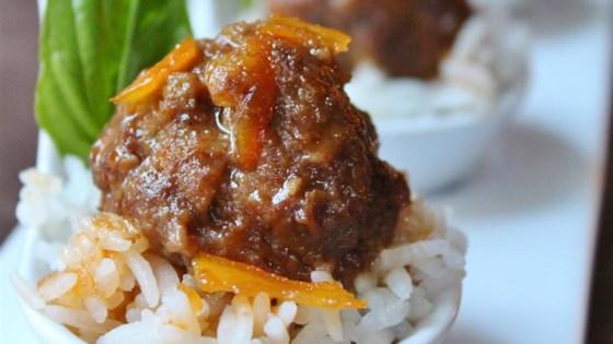 Spicy Orange Bison Balls