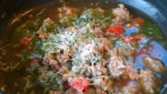 Tuscan Sausage and Chard Soup