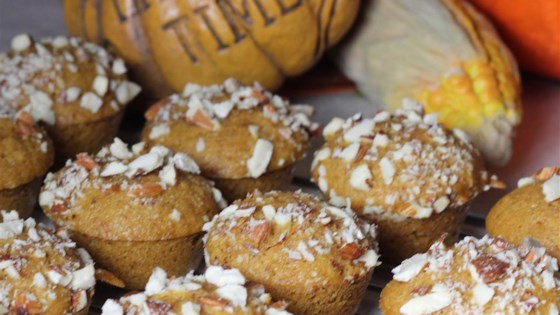 Pumpkin Almond Mini Muffins