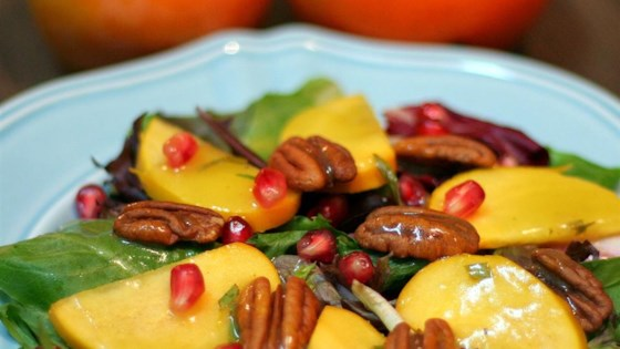 Persimmon and Pomegranate Salad