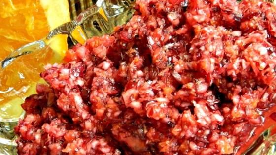 Easy Cranberry Orange Relish