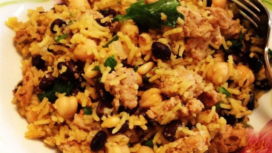 Middle Eastern Rice with Black Beans and Chickpeas Recipe ...