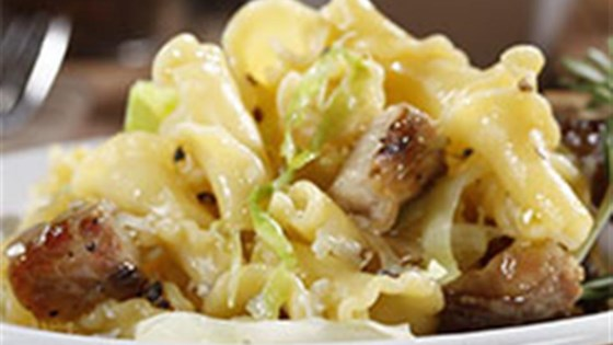 Campanelle with Cabbage and Oven-Roasted Pork Ribs