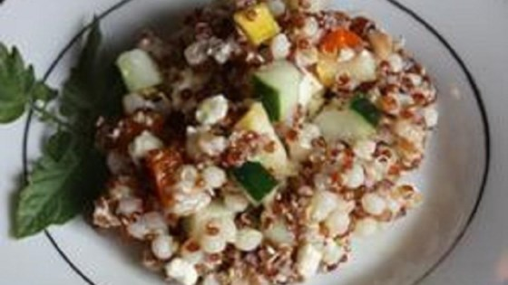 Quinoa, Couscous, and Farro Salad with Summer Vegetables