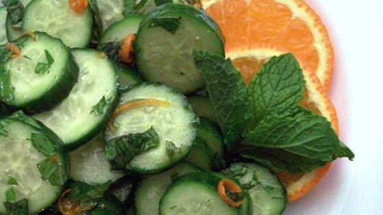 Minty Cucumber Salad