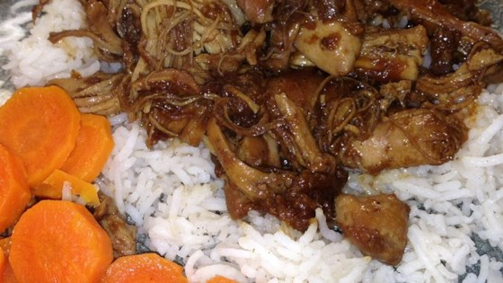 Moroccan Inspired Apricot-Braised Chicken