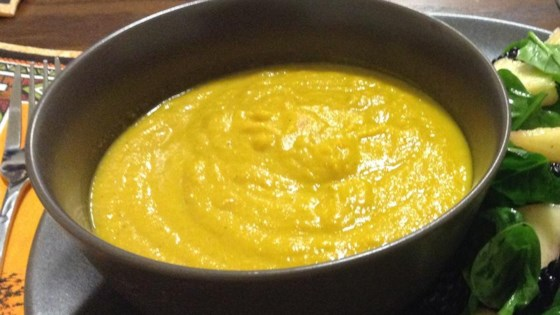 Roasted Carrot and Cauliflower Curried Soup