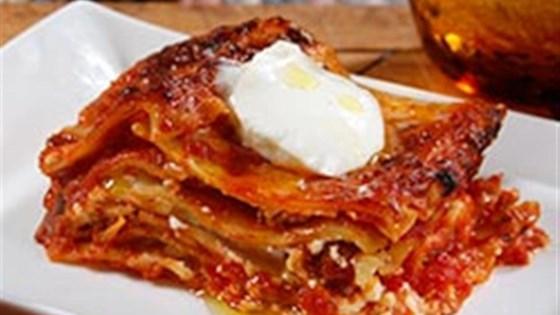 Wavy Lasagna with Italian Sausage and Marinara Sauce
