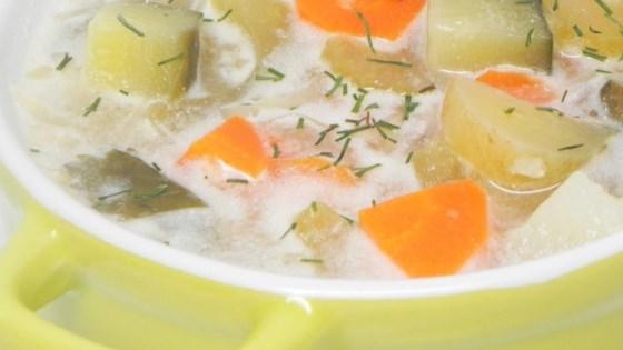 Authentic Polish Pickle Soup Zupa Orgorkowa