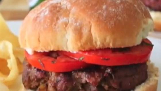 Chef John's Lamb Moussaka Burger