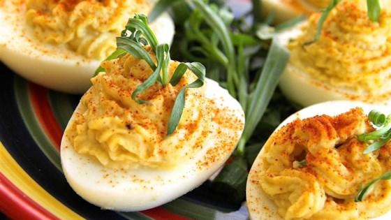 Tarragon and Spice Deviled Eggs