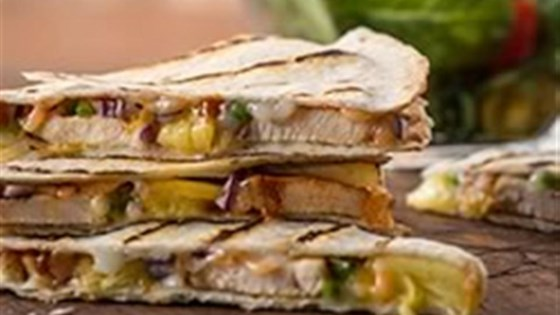 Sweet and Spicy BBQ Quesadillas