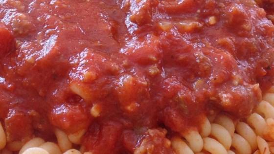 Chunky Red Sauce with Ground Italian Sausage