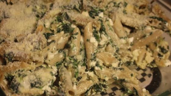 Four-Cheese Pasta Florentine