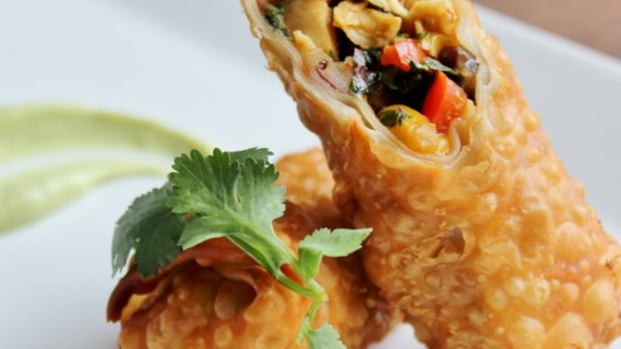 recipe: southwest chicken egg rolls [4]