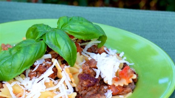 Beef and Bow Ties Pasta