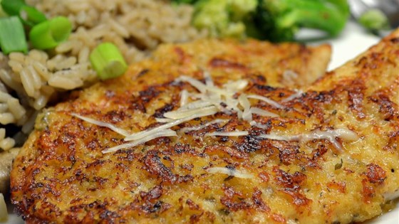 Parmesan crusted tilapia fillets recipe allrecipes parmesan crusted tilapia fillets ccuart Image collections