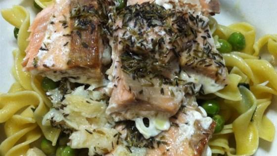 Thyme Salmon with Sage Pasta