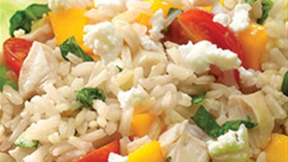 Mango Basil Chicken and Brown Rice Salad