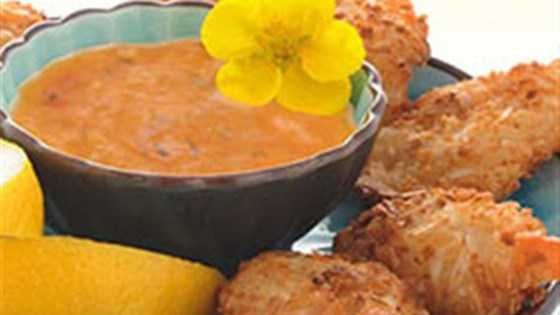 Baked Coconut Shrimp with Spicy Dipping
