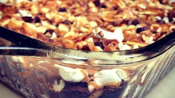 Caramel Popcorn Brownies