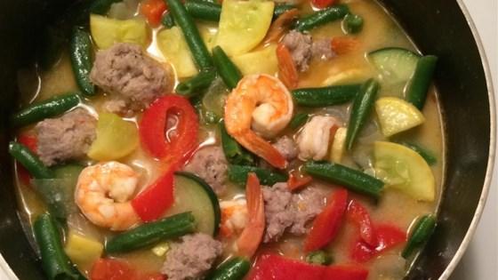 Guinataan Sitaw and Kalabasa (String Beans and Squash Stew)