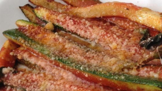 Zucchini Parmesan with Tomato Sauce