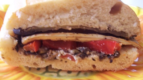 Eggplant and Pepper Parmesan Sandwiches Recipe - Allrecipes.com