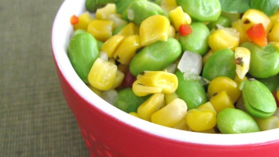 Grilled Corn and Edamame Succotash Salad