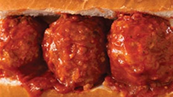 Italian Stuffed Pork Meatball Sandwich