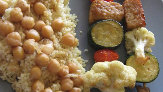 Tempeh Kabobs with Moroccan Couscous
