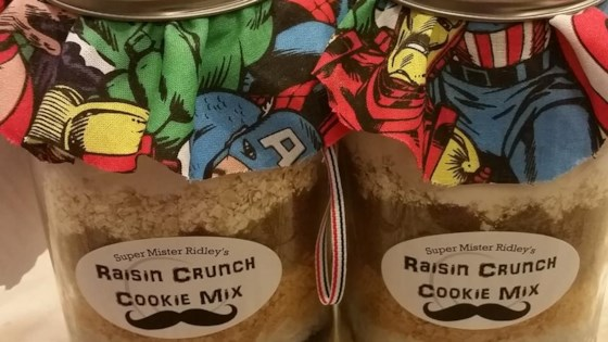 Raisin Crunch Cookie Mix in a Jar