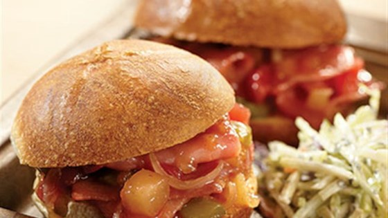 Sweet and Sour Hot Ham Sandwiches