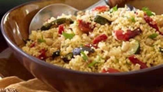 Couscous with Roasted Tuscan Inspired Vegetables