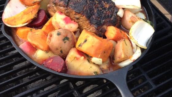 DJ's Outdoor Pork Loin with Veggies