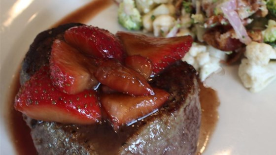 Filet Mignon and Balsamic Strawberries