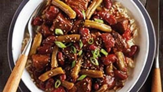 Teriyaki Beef & Bean Rice Bowls from Del Monte®
