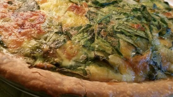 Green Chile Spinach Quiche