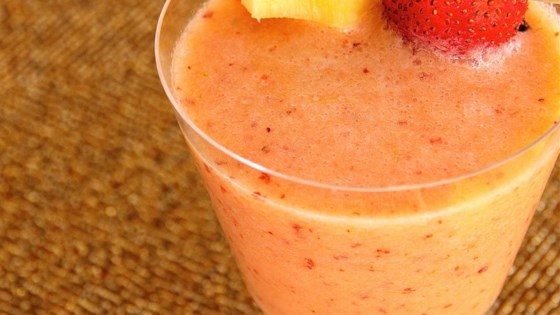 Strawberry, Pear, Pineapple, and Mint Smoothie