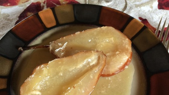 Pears Baked in Amaretto Cream