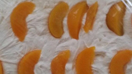Peach Filled Cake
