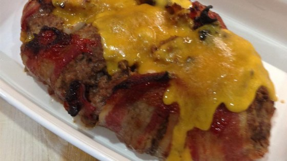 Dad's Cheesy Bacon Wrapped Meat Loaf