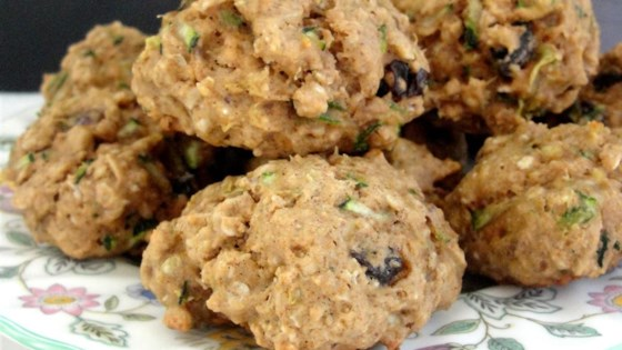 Spicy Zucchini Oatmeal Cookies