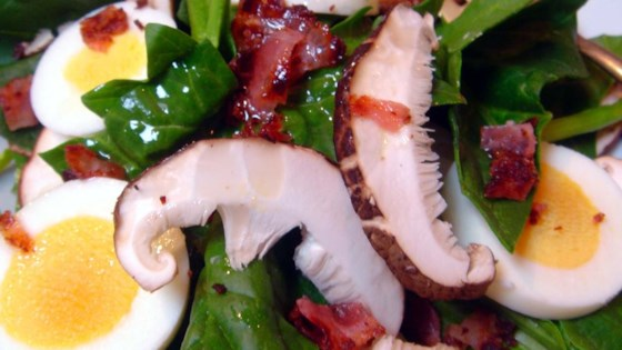 Spinach and Mushroom Salad