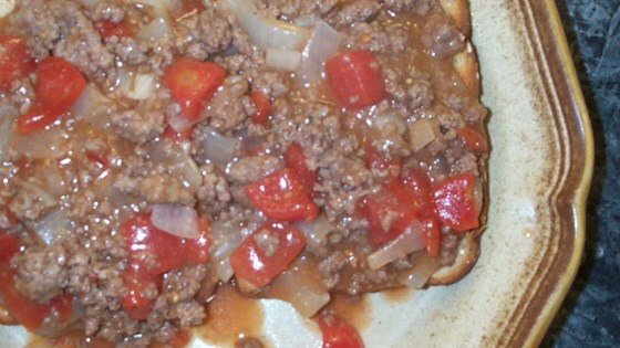U.S. Navy Minced Beef On Toast