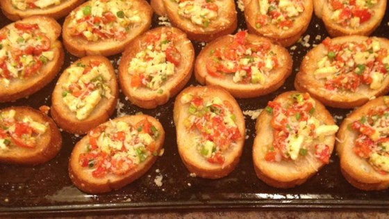 Roasted Red Pepper and Feta Bruschetta