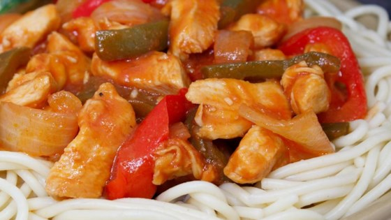 Simple Chicken Cacciatore